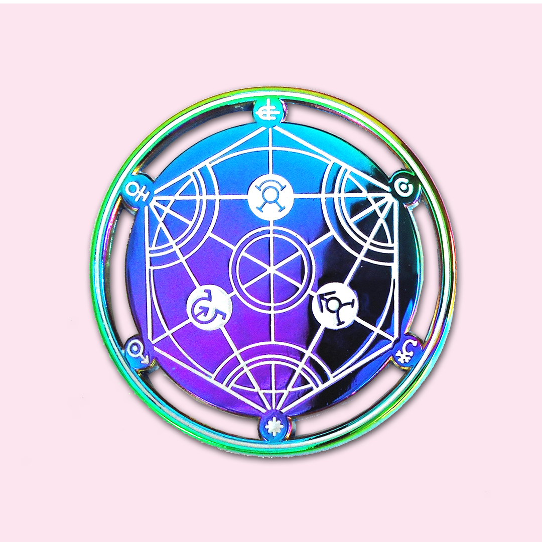 Human Transmutation Circle Rainbow Pin Stami Studios